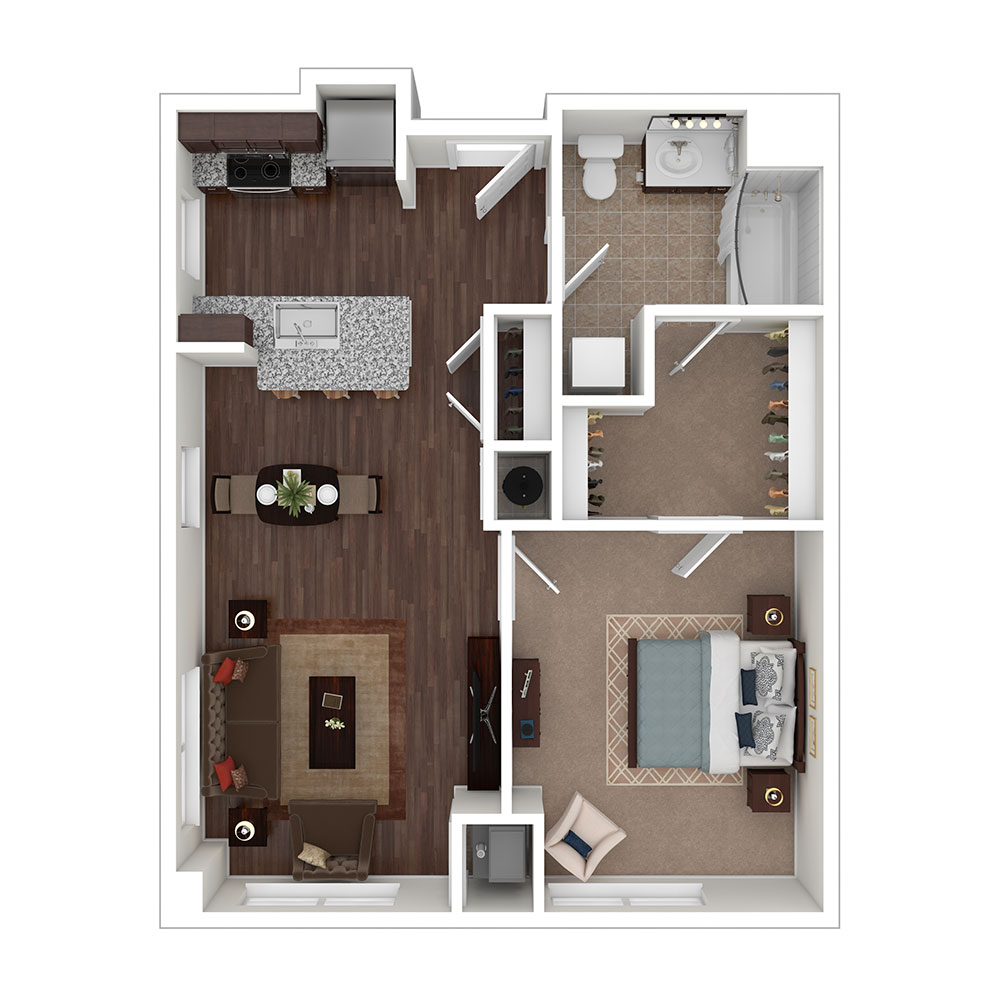 Bark Hill 1 Bedroom | 1 Bath 680 sq. ft. $Call for Pricing
