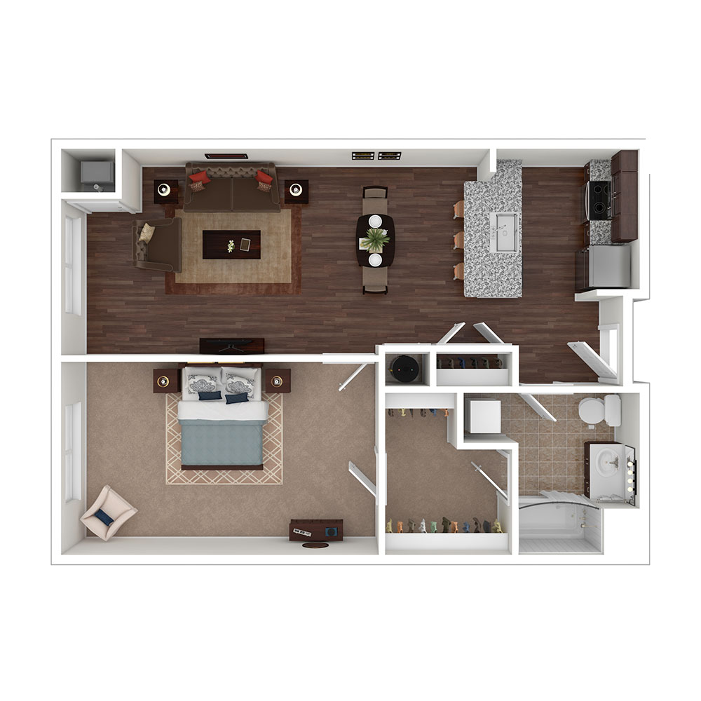 Bennett Cerf 1 Bedroom | 1 Bath 803 sq. ft. $Call for Pricing