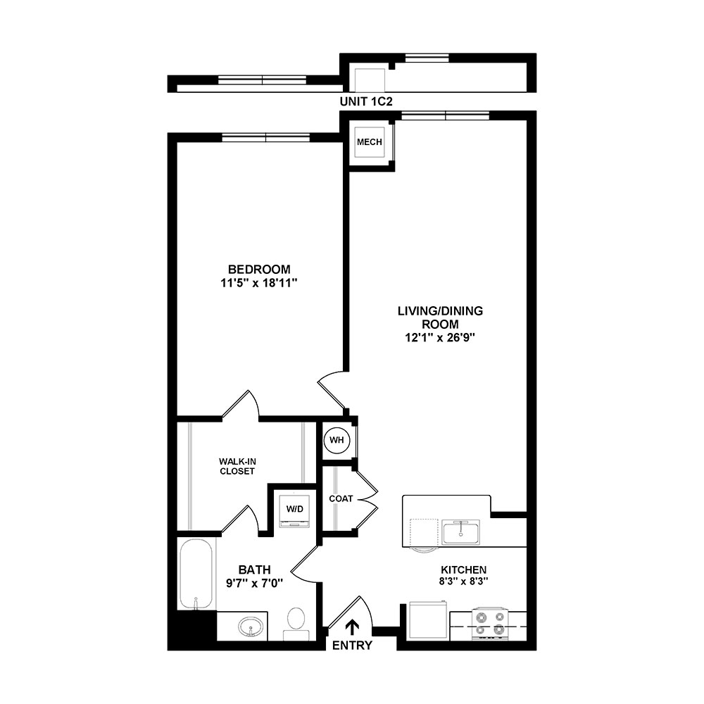 Cape Horn 1 Bedroom | 1 Bath 821 sq. ft. $Call for Pricing