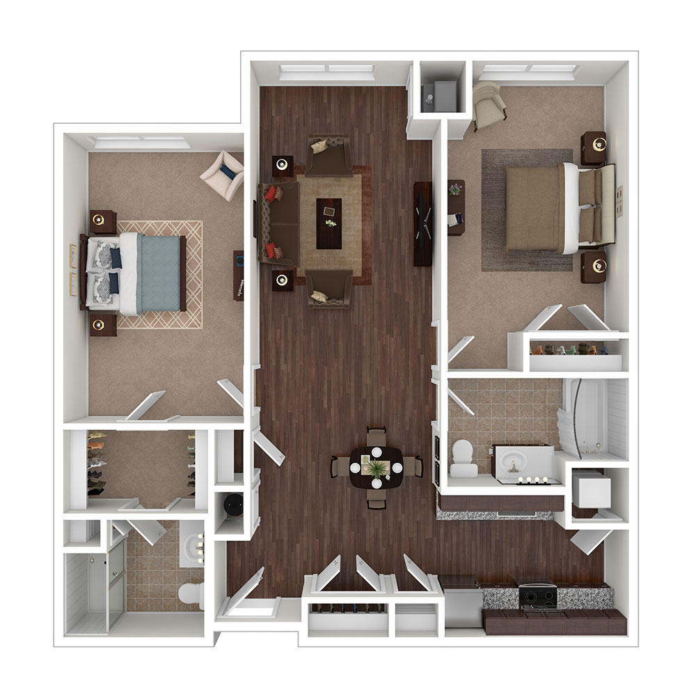 Deer Park 2 Bedroom | 2 Bath 1,146 sq. ft. $1,948–$1,998