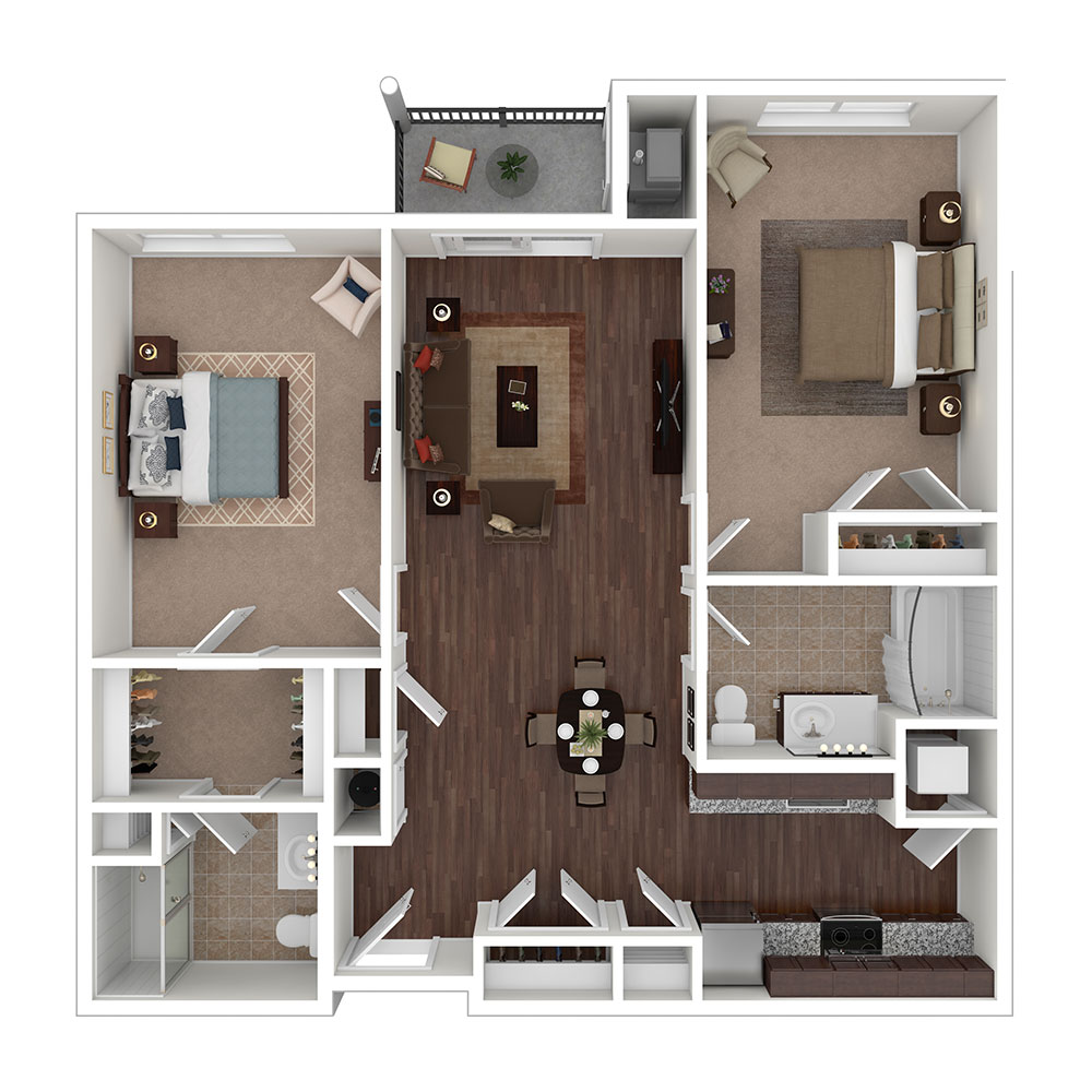 Freedom 2 Bedroom | 2 Bath 1,036 sq. ft. $1,821–$1,881