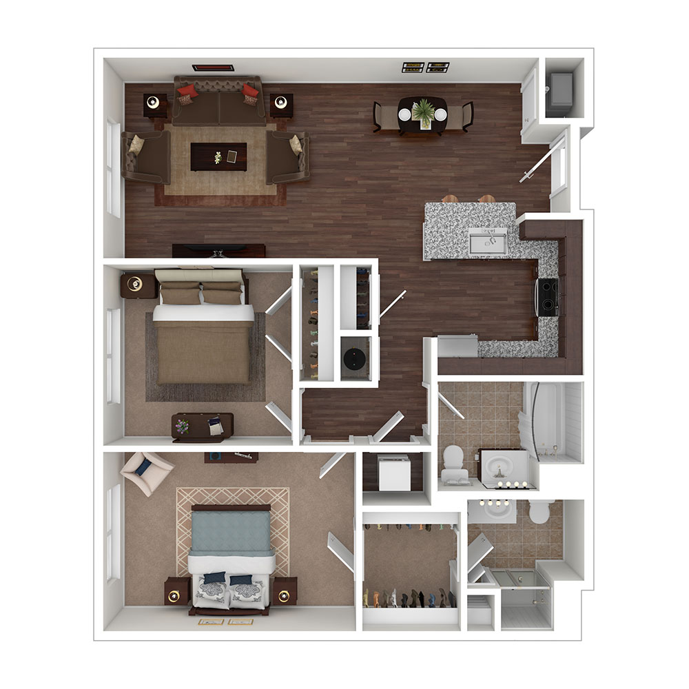 Gillis Falls 2 Bedroom | 2 Bath 995 sq. ft. $1,802