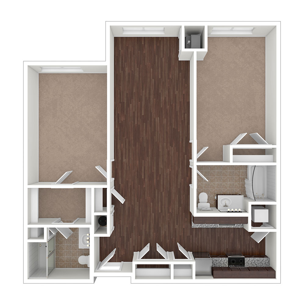 Krimgold 2 Bedroom | 2 Bath 1,095 sq. ft. $1,638 - $1,912