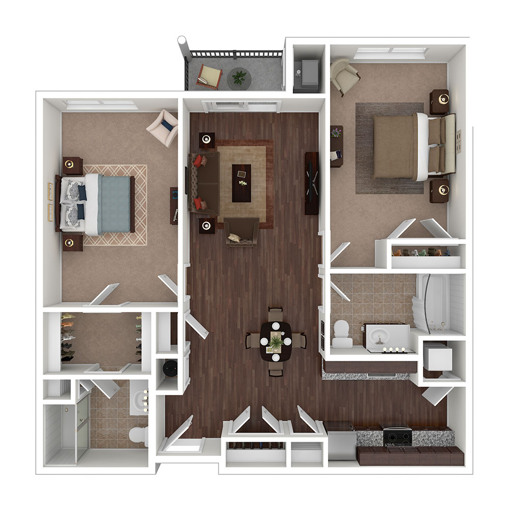Union Mills 2 Bedroom | 2 Bath 1,087 sq. ft. $1,908–$2,008