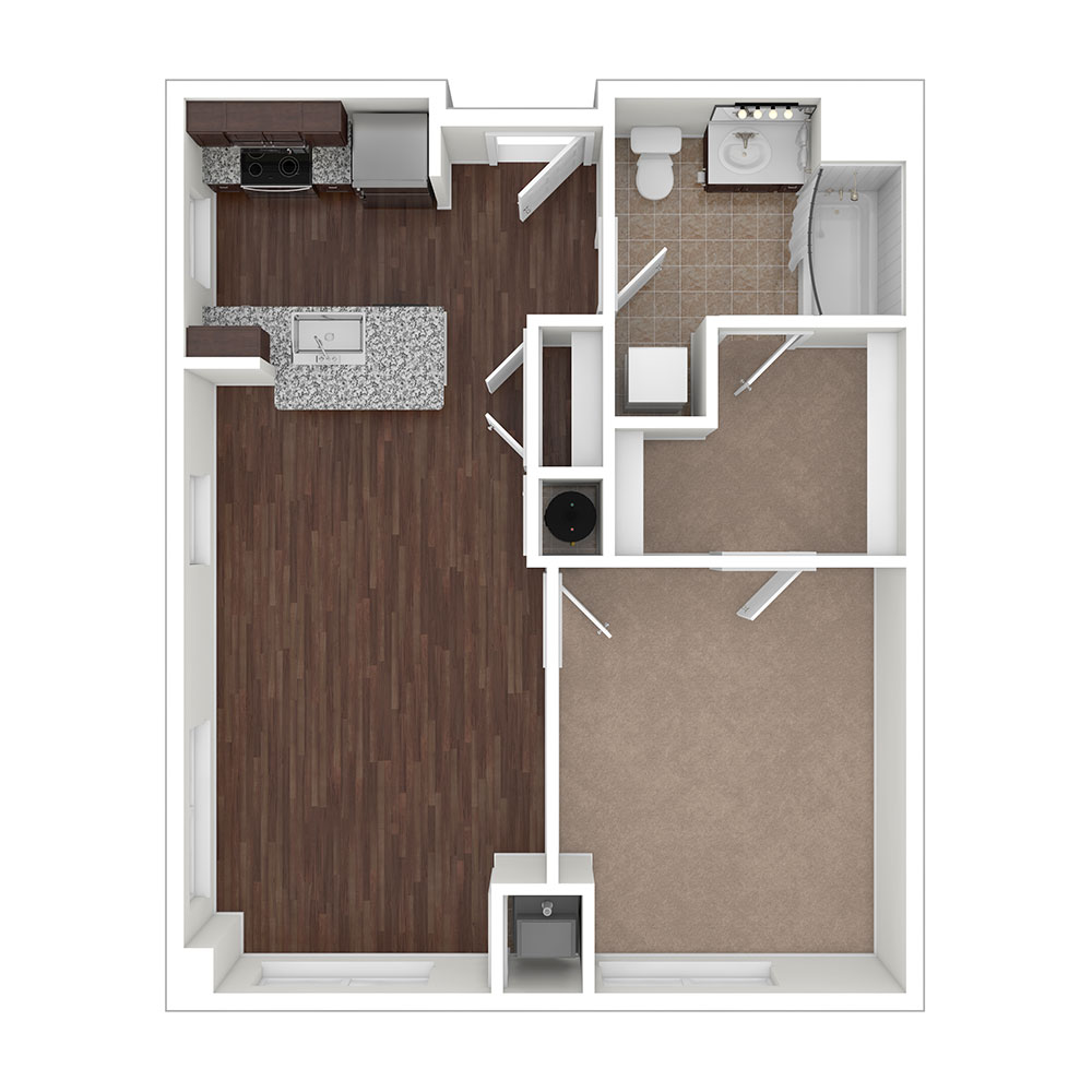 Winfield 1 Bedroom | 1 Bath 684 sq. ft. Winfield 1 Bedroom | 1 Bath 684 sq. ft. $Call for Pricing