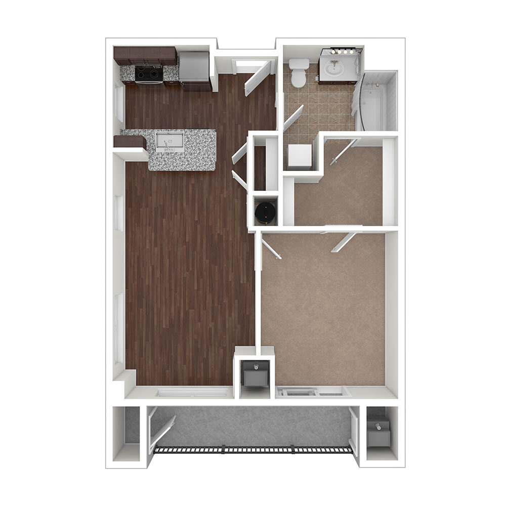 Winfield w/ Balcony 1 Bedroom | 1 Bath 684 sq. ft. $Call for Pricing